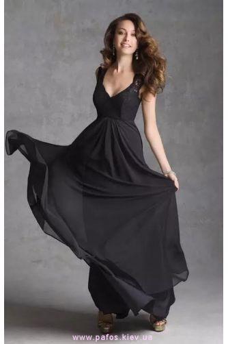 Черное платье с гипюром в Киеве - Фото 1