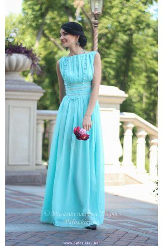 Голубое шифоновое платье в Киеве - Фото 2
