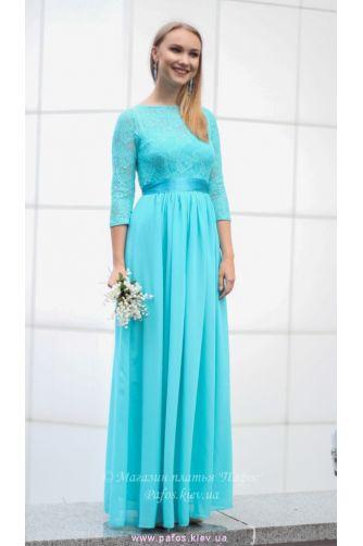 Голубое платье с рукавом в Киеве - Фото 3