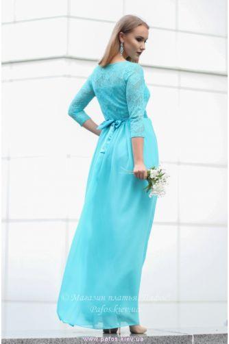 Голубое платье с рукавом в Киеве - Фото 4