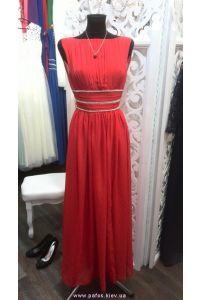 Вечернее платье красного цвета фото