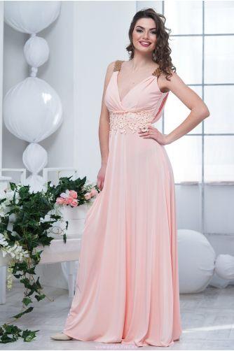 b788f4ccb56 Нежно розовое платье в пол. Купить платье в магазине Пафос.