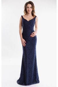 Длинное вечернее платье русалка фото