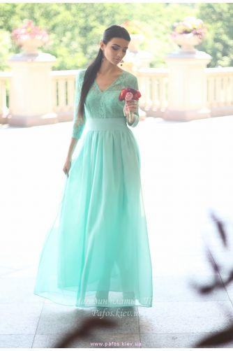 Нежно салатовое платье в Киеве - Фото 5