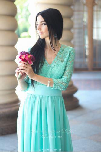 Нежно салатовое платье в Киеве - Фото 3