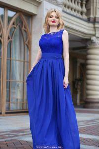Синее платье на свадьбу фото