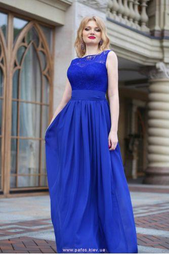 Синее платье на свадьбу в Киеве - Фото 1