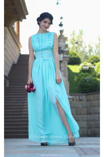 Голубое шифоновое платье в Киеве - Фото 3