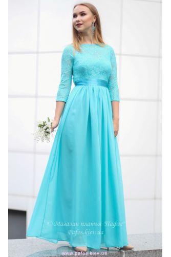 Голубое платье с рукавом в Киеве - Фото 1