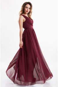 Греческое вечернее платье марсала фото