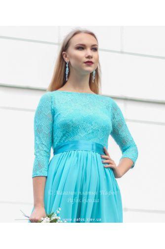Голубое платье с рукавом в Киеве - Фото 2