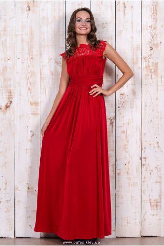 2988409cb30 Красное платье нарядное. Купить платье в пол в Киеве в магазине Пафос