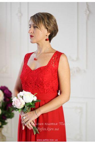 Красное платье с широкими бретелями в Киеве - Фото 6