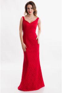 Красное вечернее платье облегающее фото