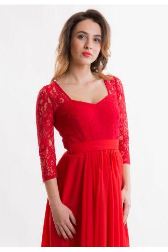 Красное вечернее платье с рукавом в Киеве - Фото 2