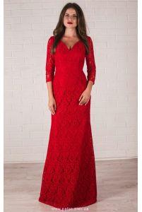 Платье с кружевом фото