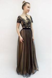 Кружевной топ и длинная юбка фото
