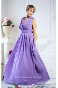 Лиловое платье в пол фото