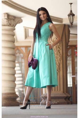 Мятное платье миди в Киеве - Фото 3