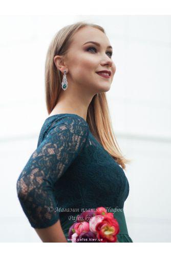 Изумрудное платье с рукавом в Киеве - Фото 4