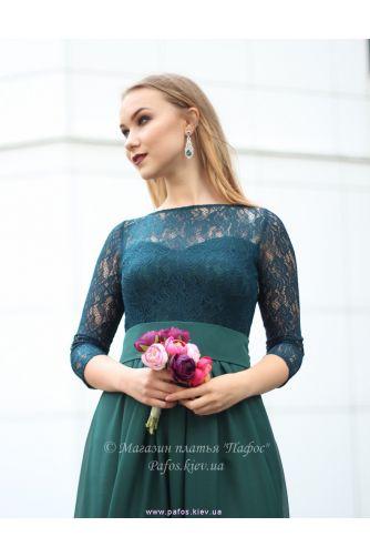 Изумрудное платье с рукавом в Киеве - Фото 2