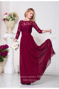 Платье марсала с рукавом фото