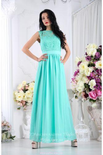 361d924d482 Мятное вечернее платье купить (Киев и Украина)