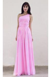 Шифоновое платье на одно плечо фото