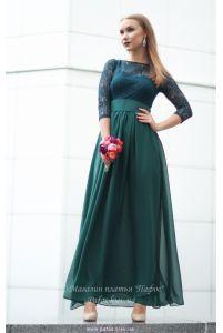 Изумрудное платье с рукавом фото