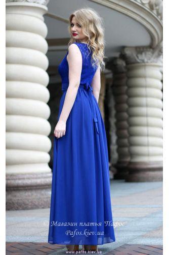 Синее платье на свадьбу в Киеве - Фото 2