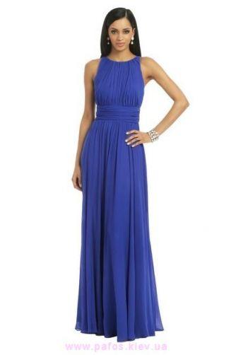 фото шифоновые синее платья