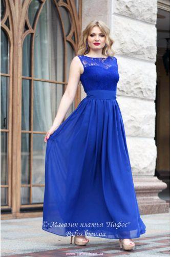 87860abf14e Синее платье на свадьбу в Киеве - Фото 1