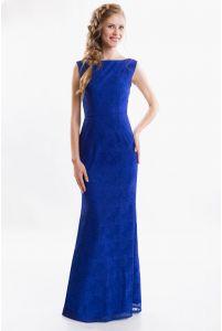 Синее вечернее платье русалка фото