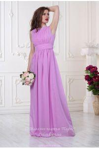 Лиловое вечернее платье фото