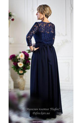 Темно синее платье с рукавом в Киеве - Фото 2