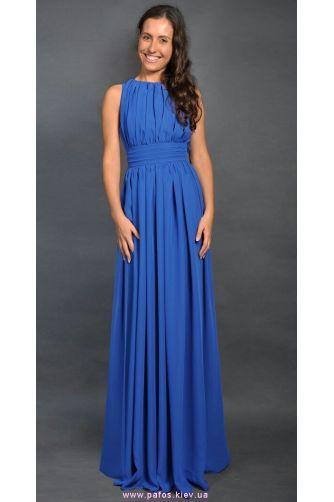 Синее платье в греческом стиле в Киеве - Фото 2