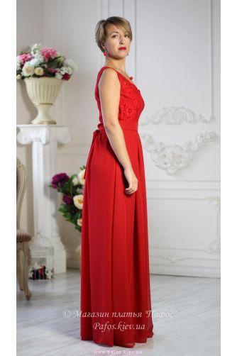 Красное платье с широкими бретелями в Киеве - Фото 3
