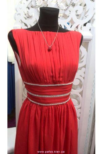 Вечернее платье красного цвета в Киеве - Фото 2