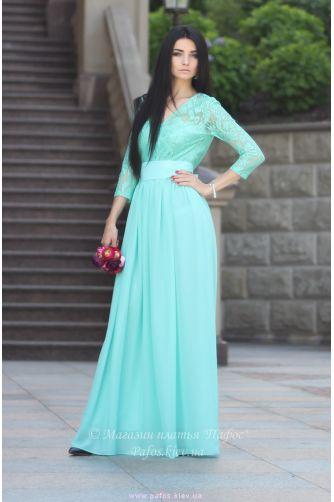Нежно салатовое платье в Киеве - Фото 1