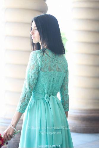Нежно салатовое платье в Киеве - Фото 4