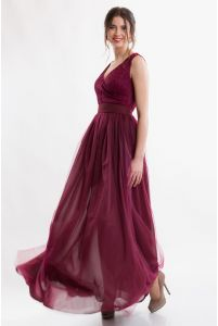 Вечернее платье с вырезом фото