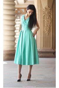 Мятное платье миди фото