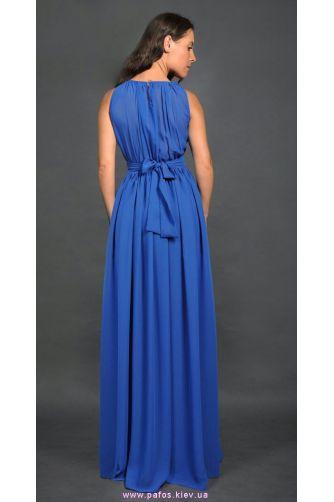 Синее платье в греческом стиле в Киеве - Фото 3