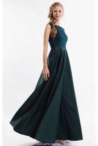Вечернее платье изумрудного цвета фото