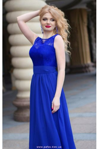 Синее платье на свадьбу в Киеве - Фото 5