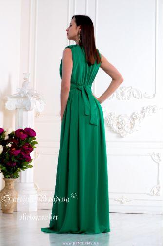 Зеленое вечернее платье в Киеве - Фото 3
