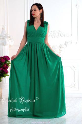 Зеленое вечернее платье в Киеве - Фото 2