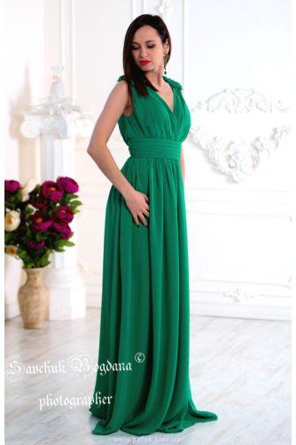 Зеленое вечернее платье в Киеве - Фото 4