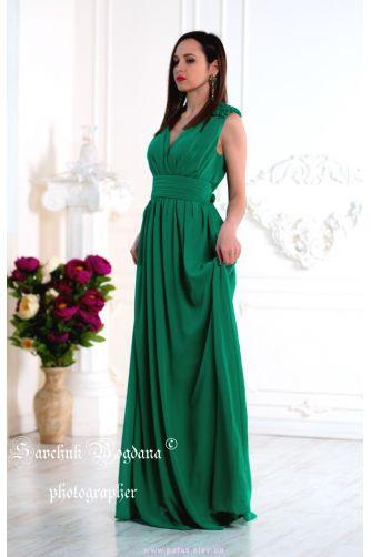 Зеленое вечернее платье в Киеве - Фото 1