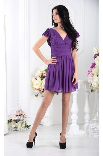 Фиолетовое платье с пышной юбкой в Киеве - Фото 4